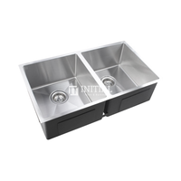Square Stainless Steel Kitchen & Laundry Sink 770X450X215