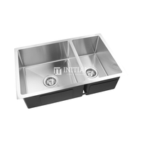 Square Stainless Steel Kitchen & Laundry Sink 715X450X205