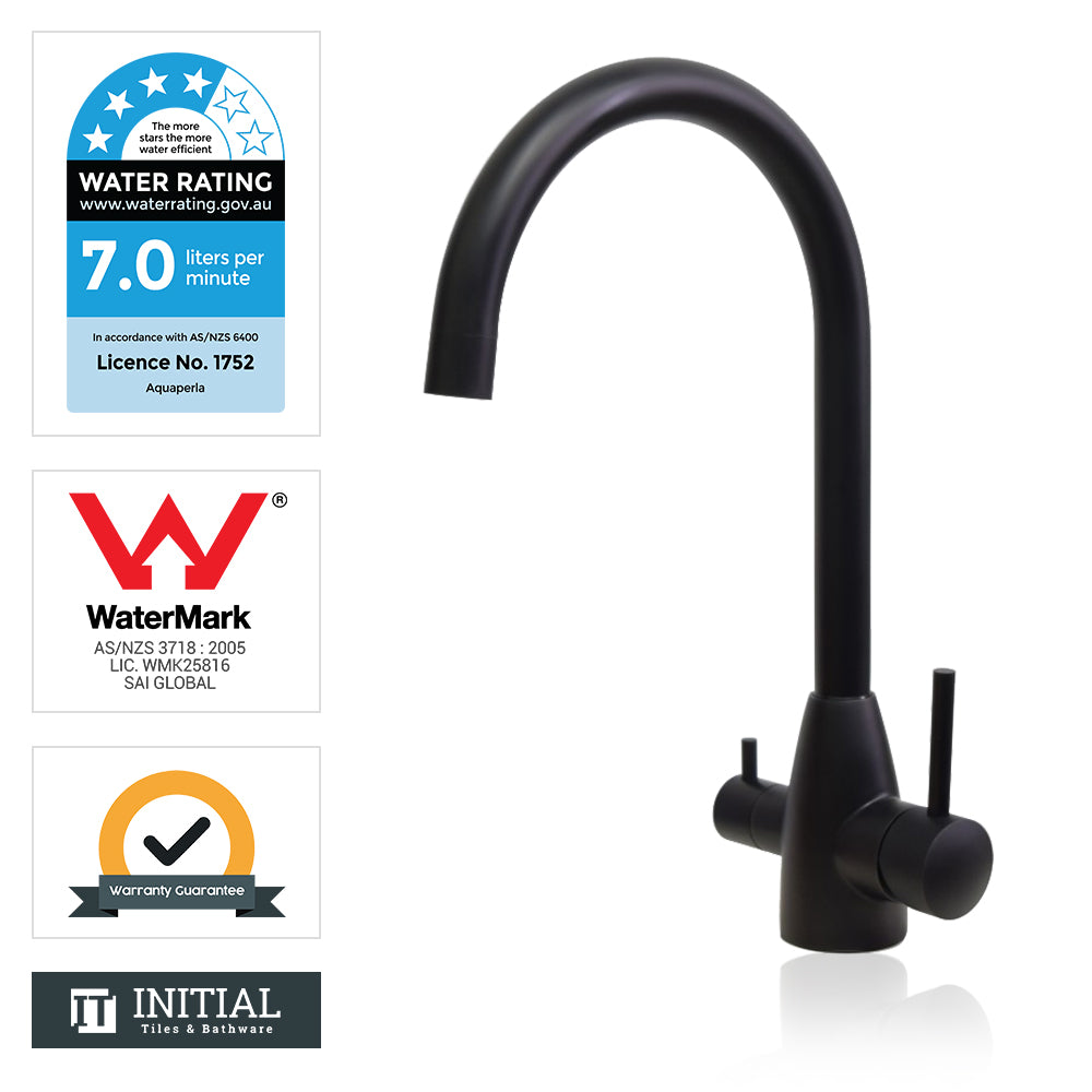 Kitchen Pure Drinking Water 360° Swivel Sink Mixer Black
