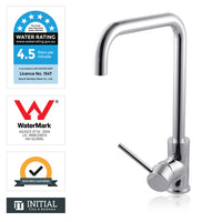 Kitchen Gooseneck 360° Swivel Spout Sink Mixer Chrome