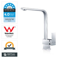 Kitchen Square Laundry Kitchen Sink Mixer Chrome