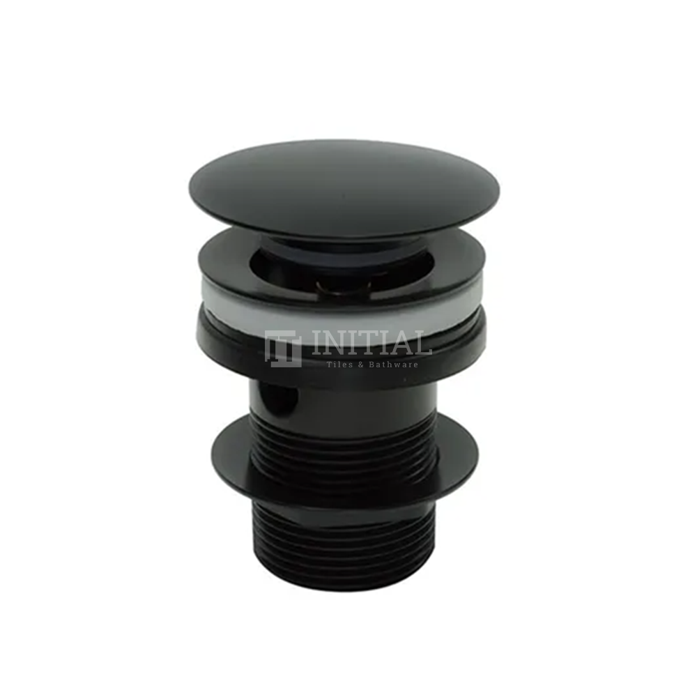 Mushroom Bathtub Pop Up Waste Without Overflow Matt Black 40mm