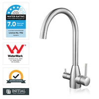 Kitchen Pure Drinking Water 360° Swivel Sink Mixer Brushed Nickel