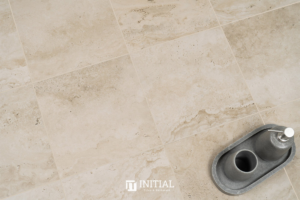 Travertine Look Tile Travertine Beige Matt 300X300