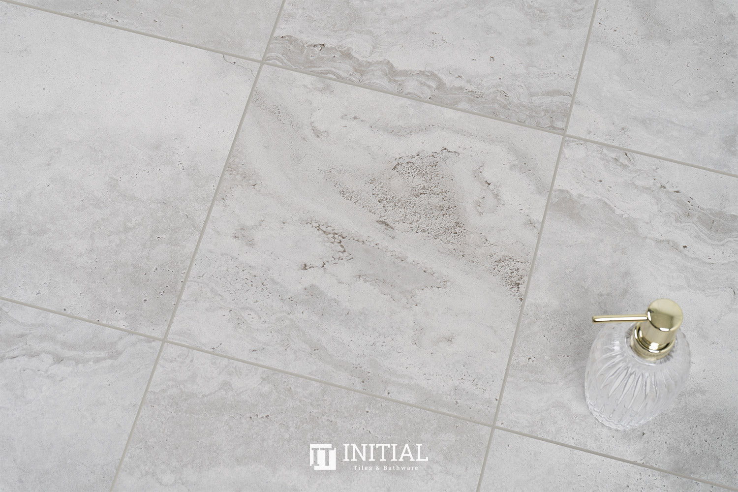 Travertine Look Tile Travertine Grey Matt 600X600