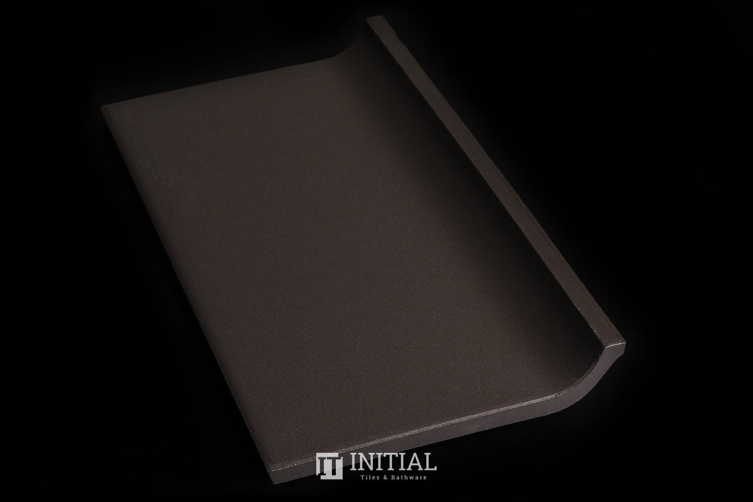 Commercial Uni Black Coving Tile 100X200
