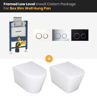 Bathroom Geberit Kappa Framed Low Level In Wall Cistern Box Rim Wall Hung Pan Package