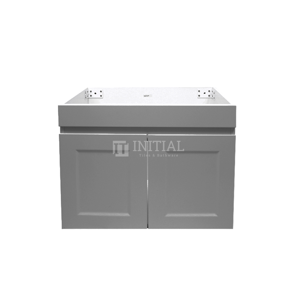 Hampton Wall Hung Vanity with 2 Finger Full Soft Close Doors Matt Grey 600X450X450
