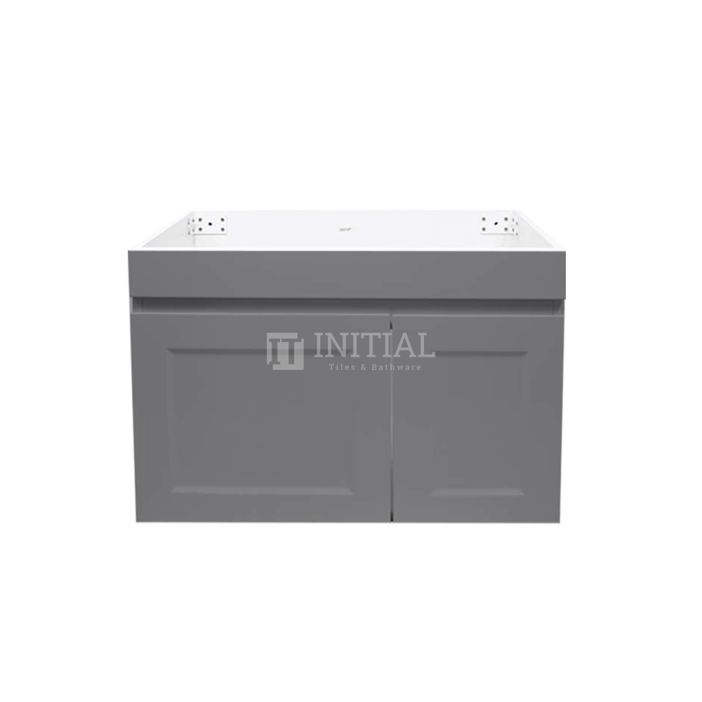 Hampton Wall Hung Vanity with 1 Finger Full Soft Close Door and 1 Drawer Matt Grey 750X450X450