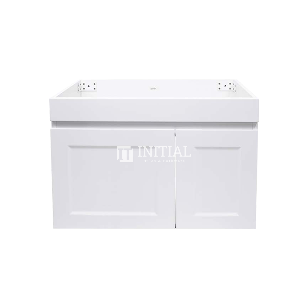 Hampton Wall Hung Vanity with 1 Finger Full Soft Close Door and 1 Drawer Matt White 750X450X450