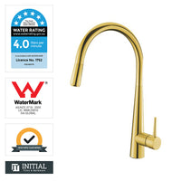 Kitchen Round Pull Out Sink Mixer Yellow Gold