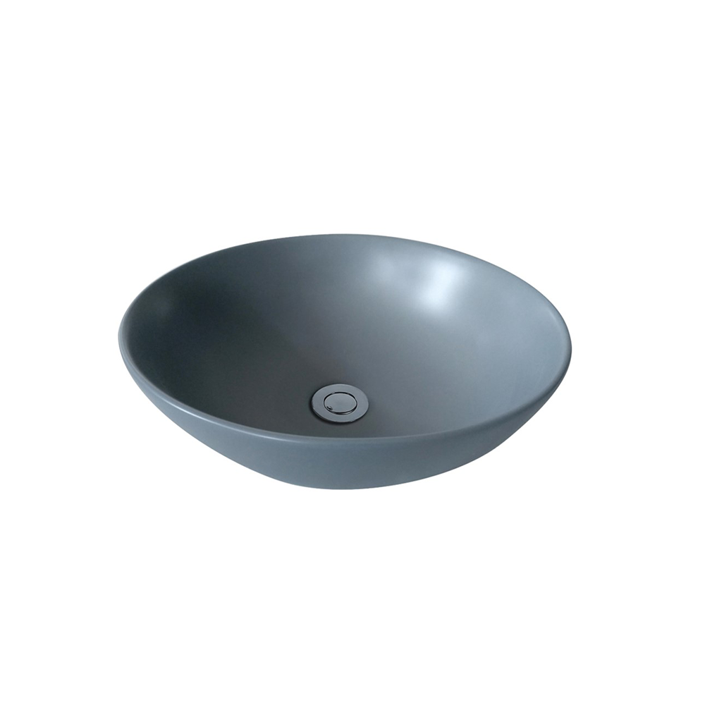 Matt Round Above Counter Basin Grey 405X405X115
