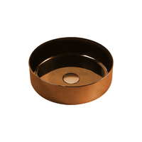 Gloss Round Above Counter Basin Rose Gold 355X355X115