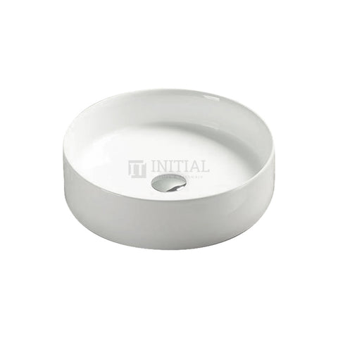 Gloss Round Ultra Slim Above Counter Basin White 394X394X115