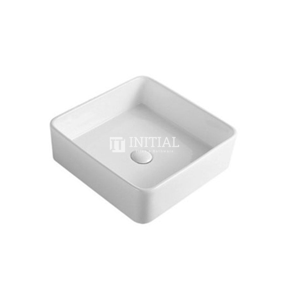 Gross Square Ultra Slim Above Counter Basin White 415X415X135