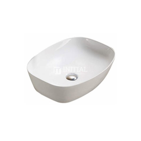 Gloss Oval Ultra Slim Above Counter Basin White 505X385X135