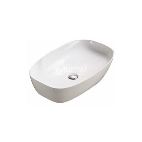 Gloss Oval Ultra Slim Above Counter Basin White 600X380X135