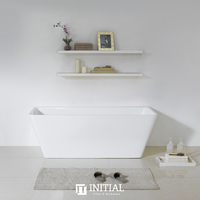 Bathroom Gloss White Alice Back to Wall Bathtub with No Overflow 1700X750X580