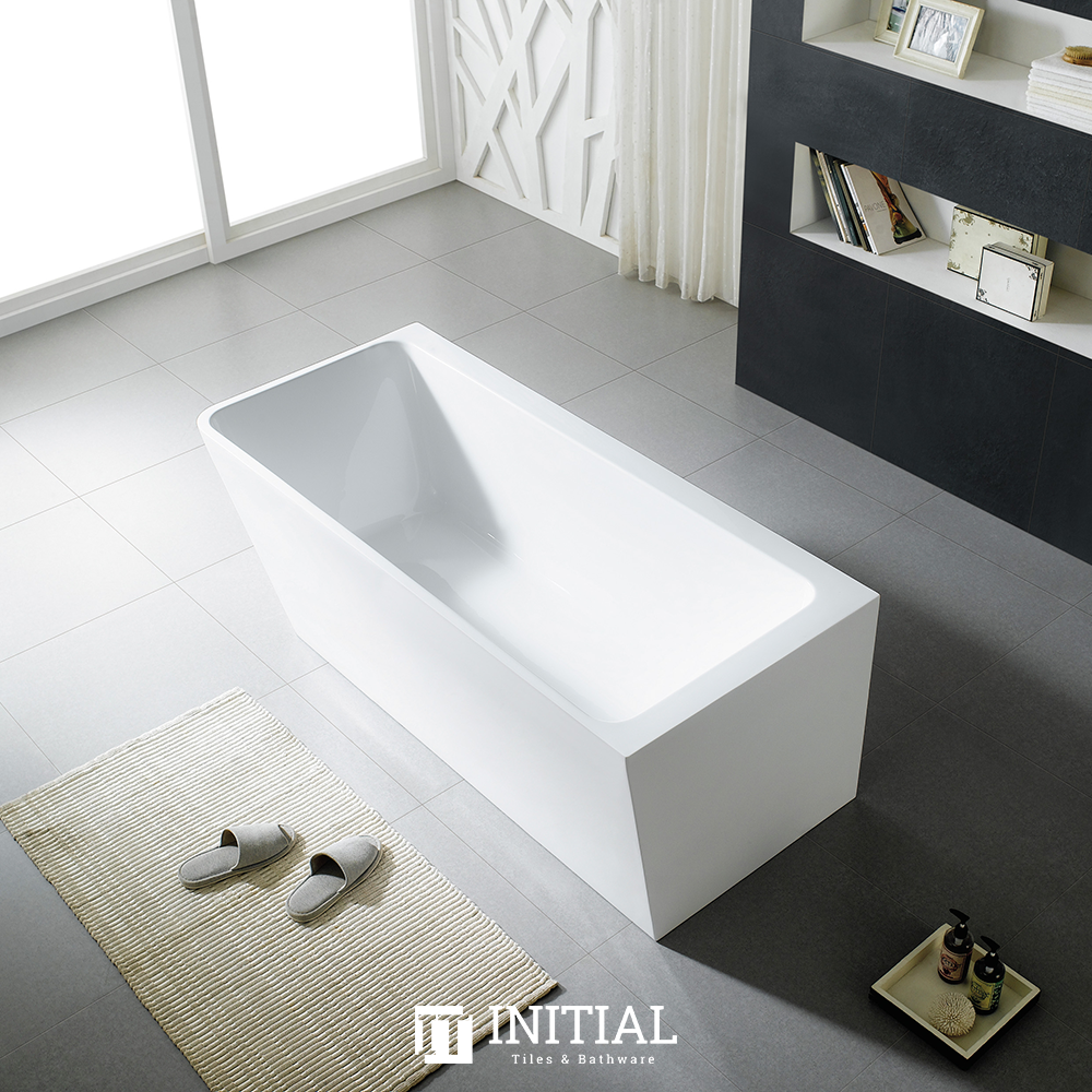 Bathroom Gloss White Alice Corner Back to Wall Bathtub with No Overflow 1490X750X615
