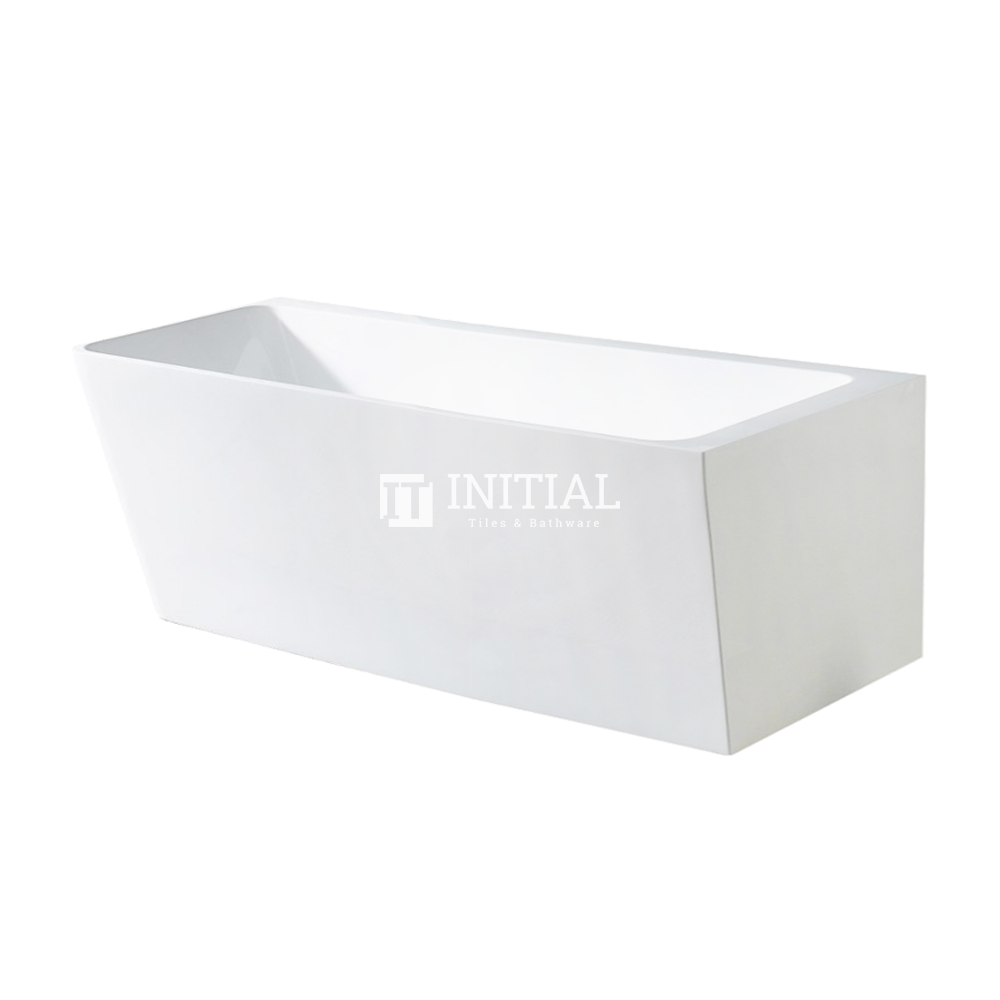 Bathroom Gloss White Alice Corner Back to Wall Bathtub with No Overflow 1695X750X610