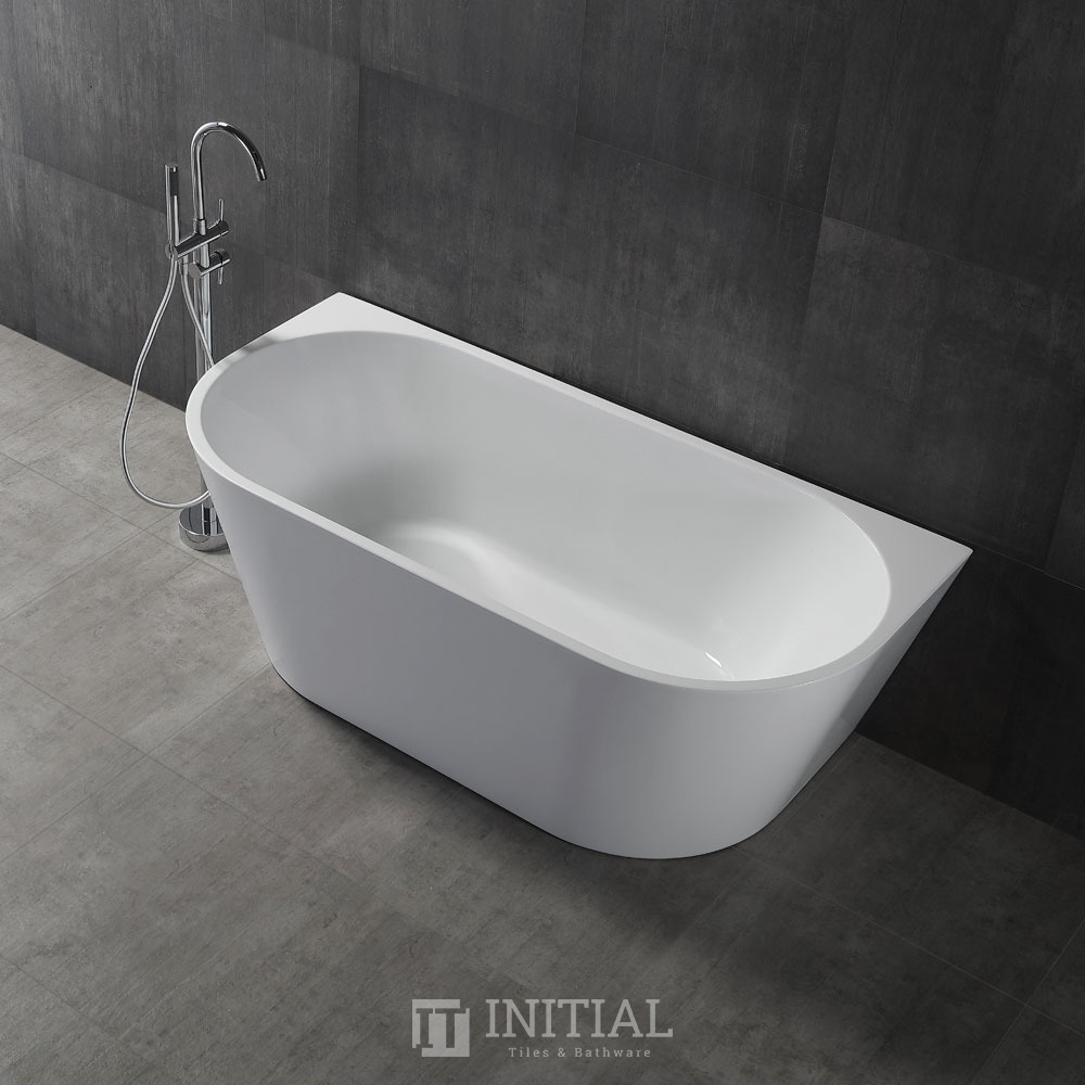 Bathroom Gloss or Matt White Victoria Back to Wall Bathtub with No Overflow 1400X730X580