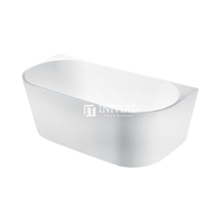 Bathroom Gloss or Matt White Victoria Back to Wall Bathtub with No Overflow 1500X750X580