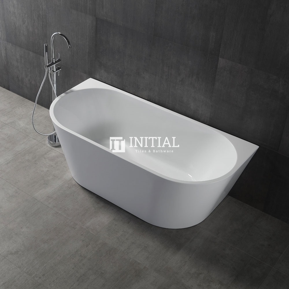 Bathroom Gloss or Matt White Victoria Back to Wall Bathtub with No Overflow 1700X800X580