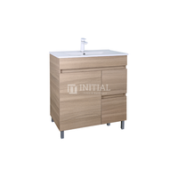 Essence Wood Grain Freestanding Vanity with 1 Door and 2 Drawers Right Side Oak 740W X 860H X 455D