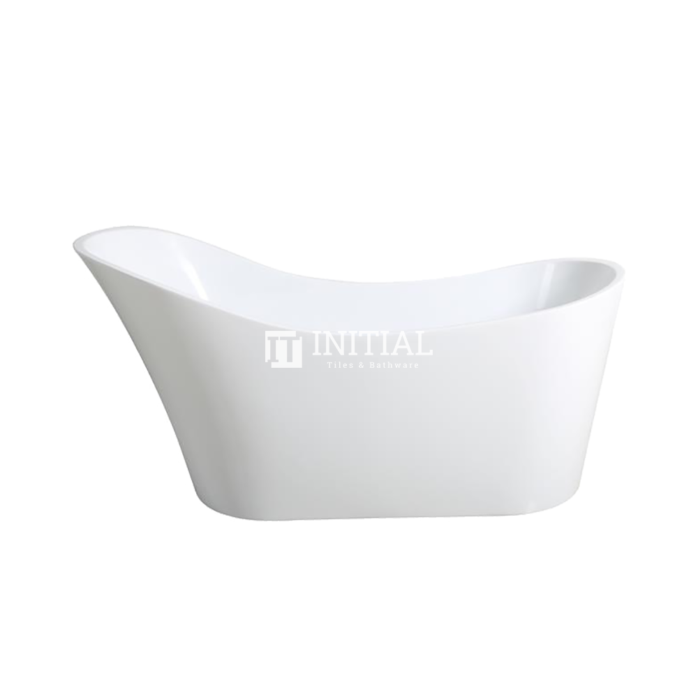 Bathroom Gloss White Brio Floor Freestanding Bathtub with Overflow 1485X695X790