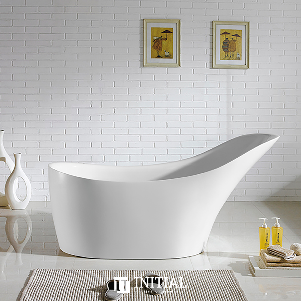 Bathroom Gloss White Brio Floor Freestanding Bathtub with No Overflow 1700X730X835
