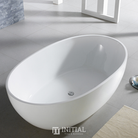Bathroom Gloss White Lucia Floor Freestanding Bathtub with Overflow 1730X1030X590