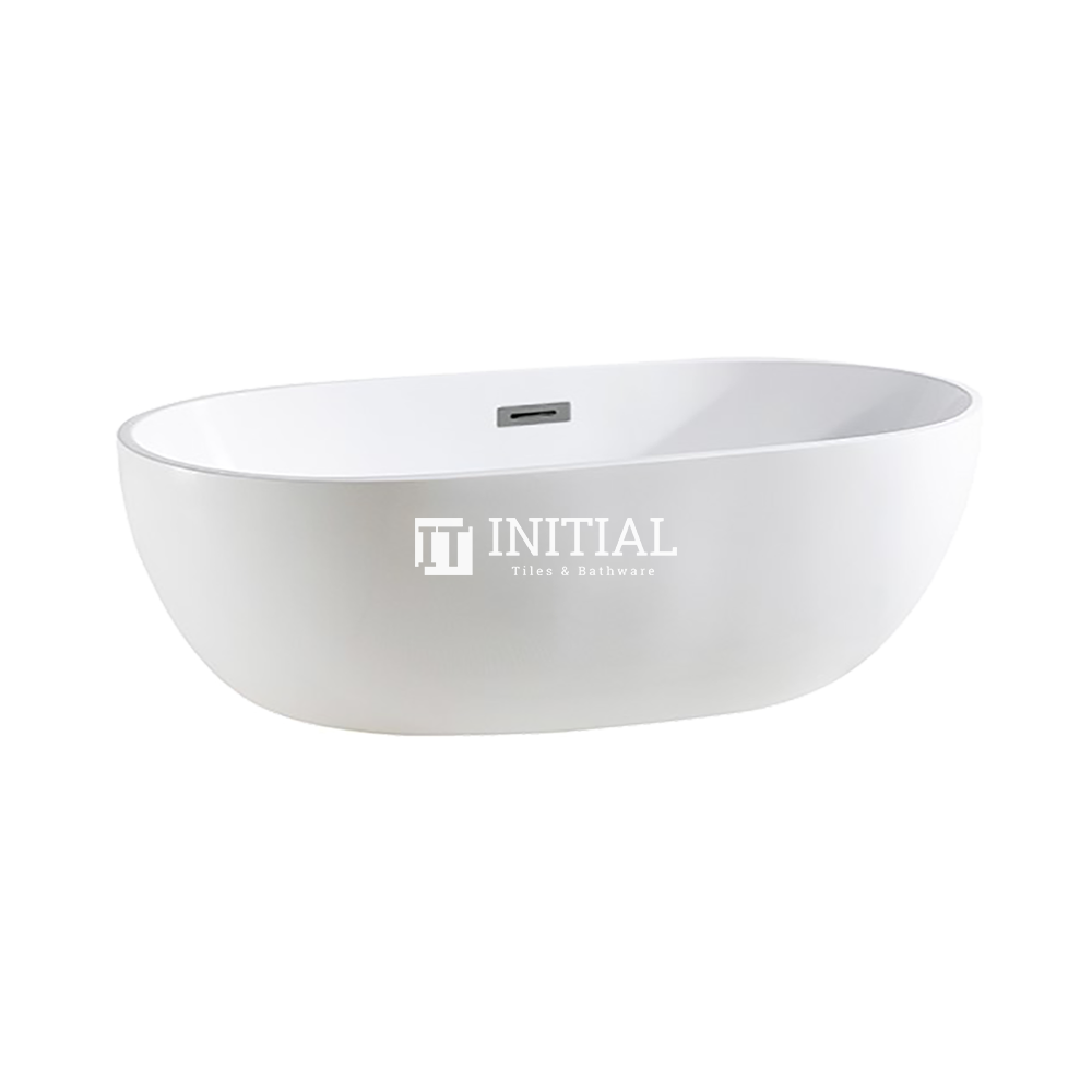 Bathroom Gloss or Matt White Livia Floor Freestanding Bathtub with Overflow 1530X770X555