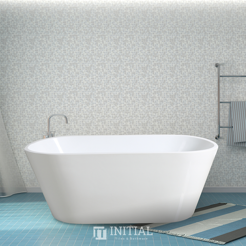 Bathroom Gloss White Oscar Floor Freestanding Bathtub with Overflow 1300X710X550