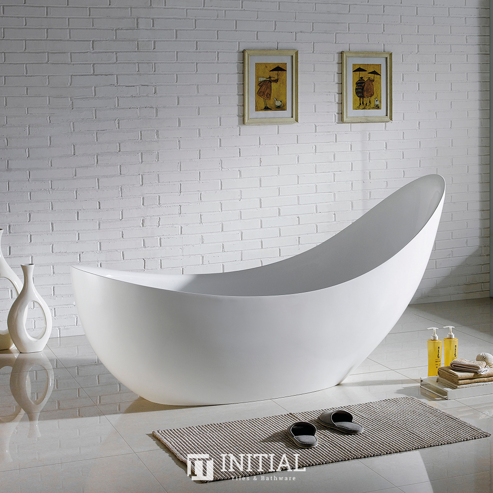 Bathroom Gloss White Posh Floor Freestanding Bathtub with Overflow 2000X800X1060