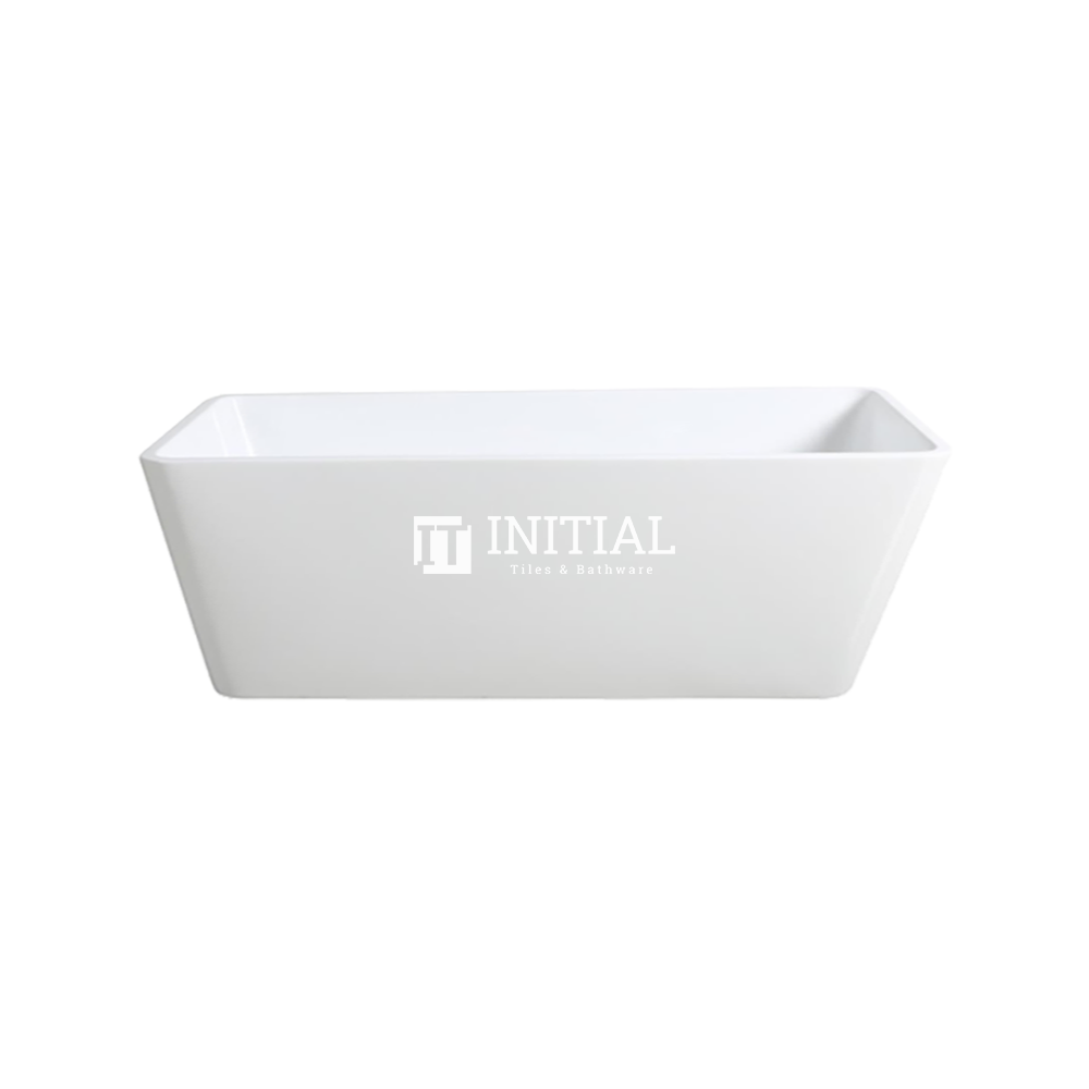 Bathroom Gloss White Kubic Floor Freestanding Bathtub with No Overflow 1498X705X580