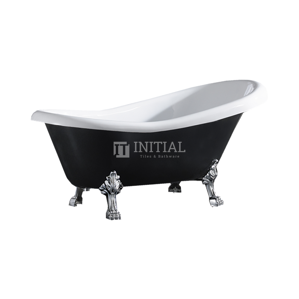 Bathroom Gloss Black Espada Floor Freestanding Bathtub with No Overflow 1500X770X780