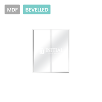 Gloss White MDF Bevelled Edge Mirrors Shaving Cabinet with 2 Doors 600X150X720