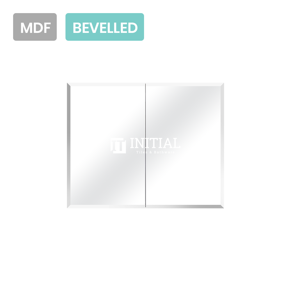 Gloss White MDF Bevelled Edge Mirrors Shaving Cabinet with 2 Doors 900X150X720