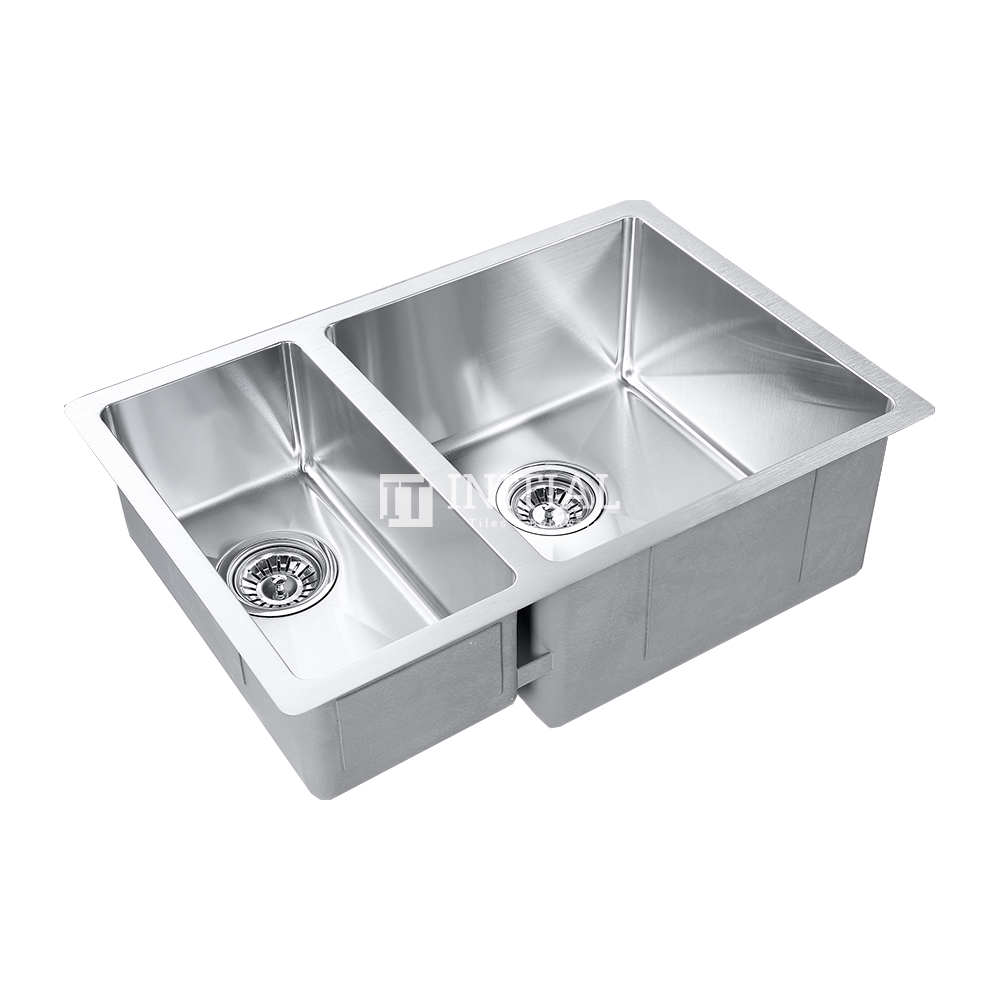 Square Hand Made Stainless Steel Kitchen Sink 660X450X220