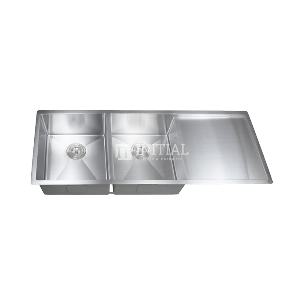 Square Hand Made Stainless Steel Kitchen Sink with Drainboard 1160X450X220