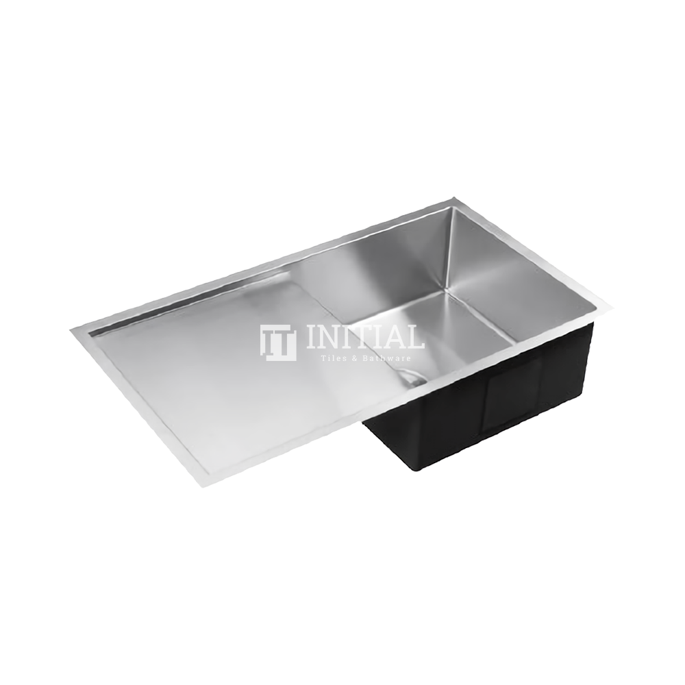 Square Hand Made Stainless Steel Kitchen Sink with Drainboard 810X450X235