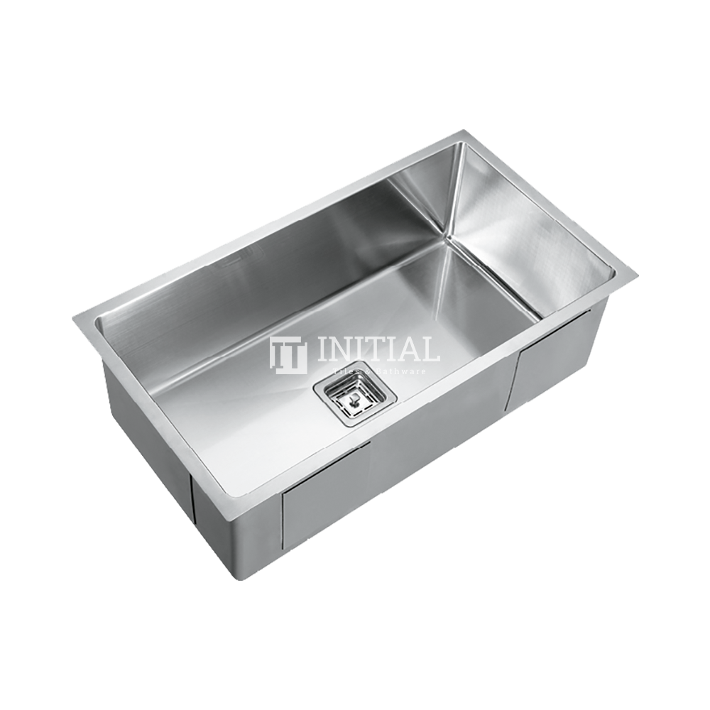 Square Hand Made Stainless Steel Kitchen Sink 810X450X235