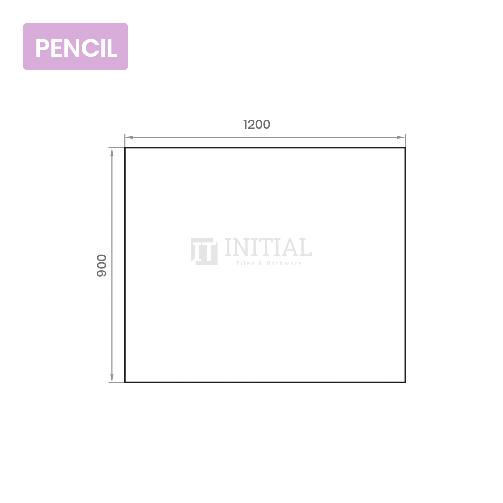 Bathroom Wall Mounted 4mm Plain Pencil Edge Mirror 1200X900