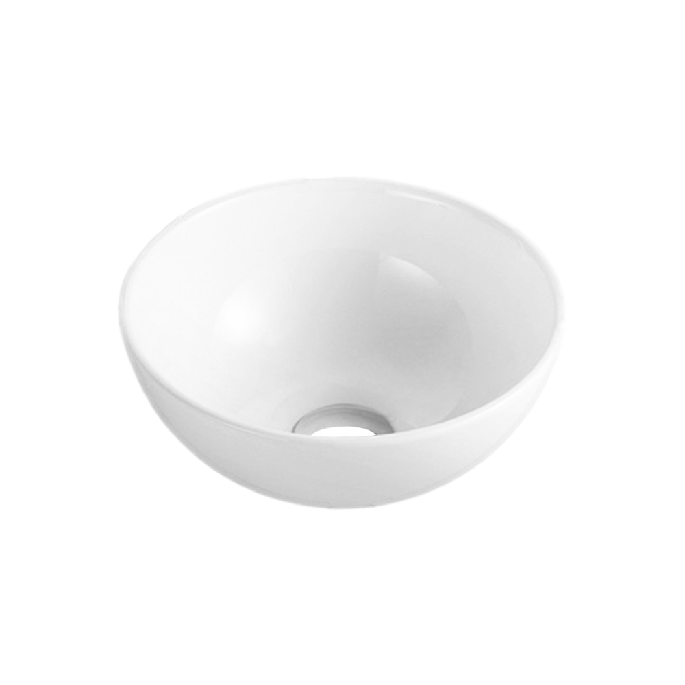 Gloss Round Above Counter Basin White 280X280X120