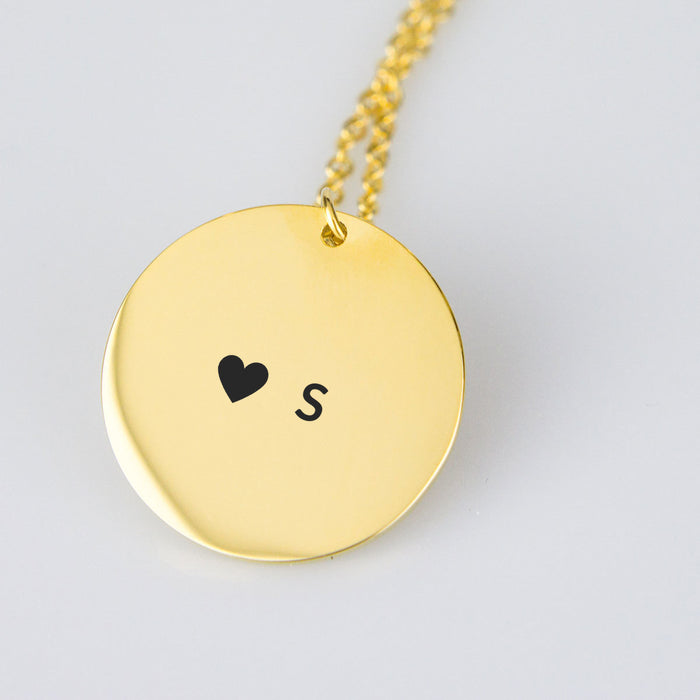 Personal Heart Initials Necklace