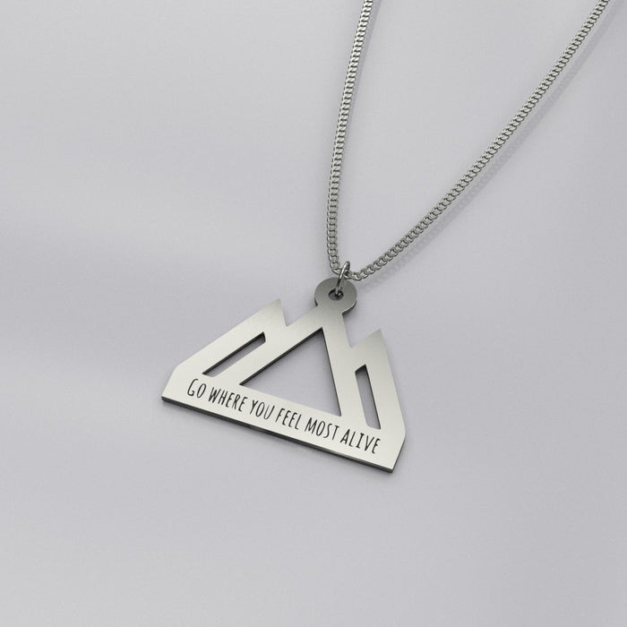 Silver Mountains Pendant Necklace