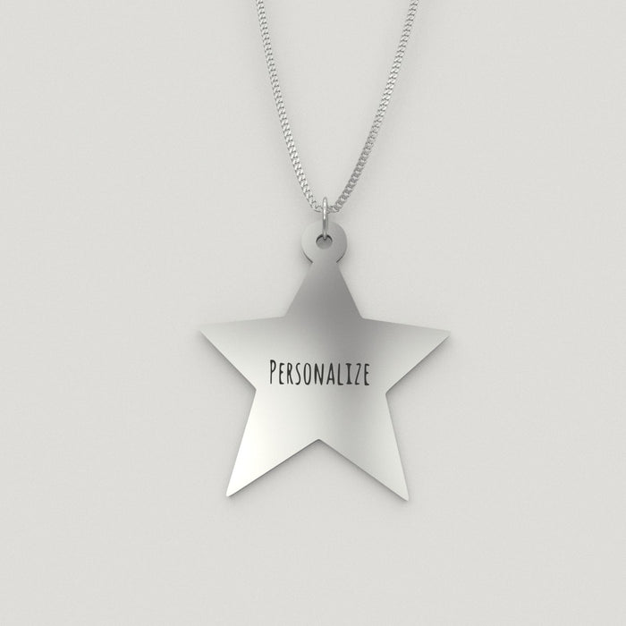 Silver Star Pendant Necklace