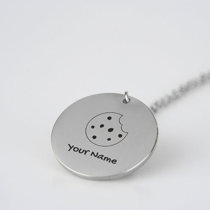 Custom Name Necklace w/ Chocolate Chip Cookie Design