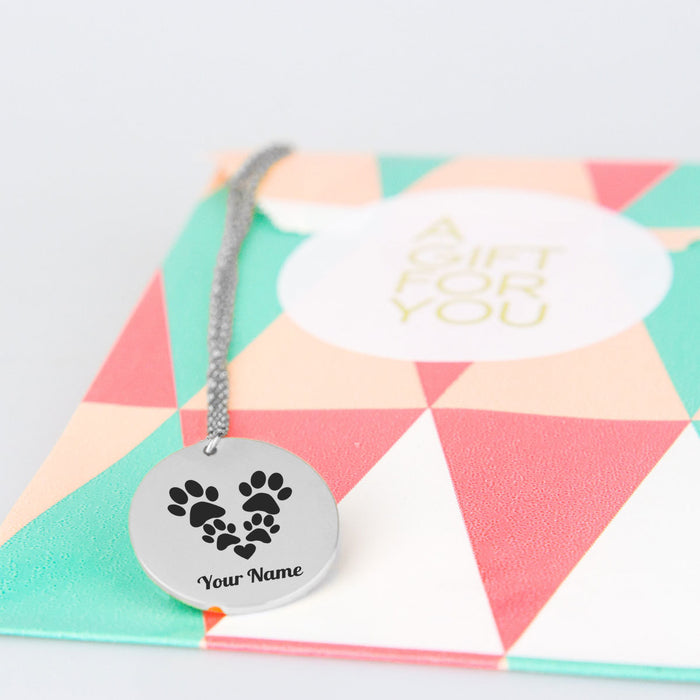 Paw Heart Pet Necklace