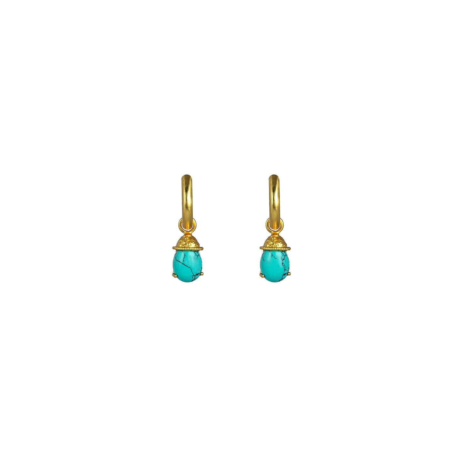 Jewel Earrings Turquoise (2 in 1 with removable charm) PRE ORDER